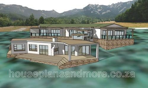 Single storey lodge plan design for client