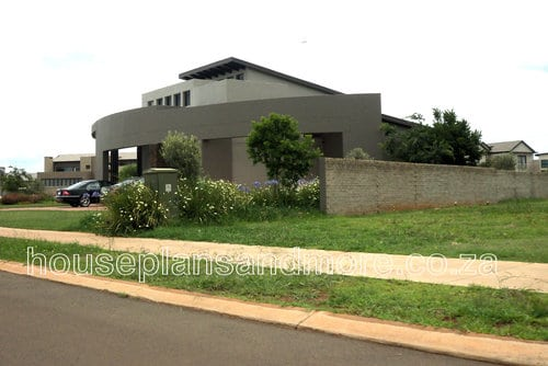 Double storey mod house plan design
