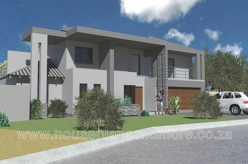 Double storey mod house plan design for client