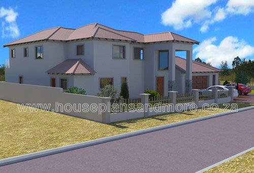 Double storey mediterrainian house plan design for client