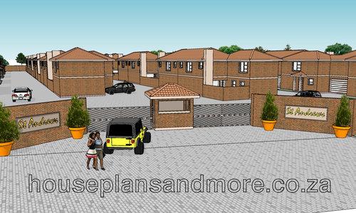 Townhouse complex for owner developer builder